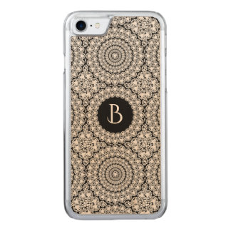 Geometric Circles Pattern Flashy Diamonds Print Carved iPhone 8/7 Case