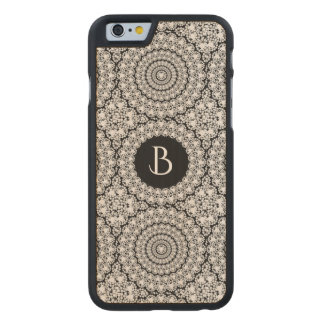 Geometric Circles Pattern Flashy Diamonds Print Carved Maple iPhone 6 Slim Case