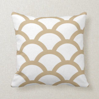 Geometric Circles Pillow in Sand Brown