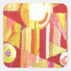 Geometric Circus (Geometric expressionism) Square Sticker