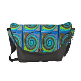 Geometric Color Combo Courier Bag