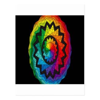 Geometric color wheel design postcard