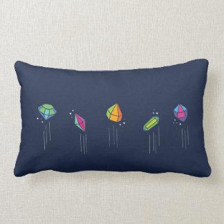 Geometric Colorful Gems cushion