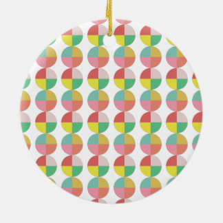 Geometric colorful pattern ceramic ornament