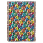 Geometric Confetti Umbrella Mosaic Throw Blanket1B