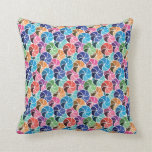 Geometric Confetti Umbrella Mosaic Throw Pillow 5