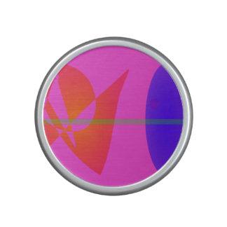 Geometric Contrast Pink Bluetooth Speaker