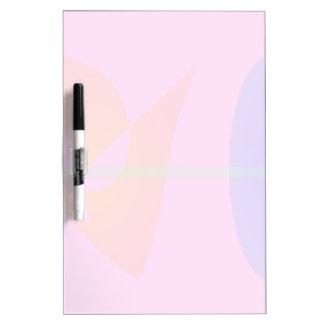Geometric Contrast Pink Dry-Erase Board