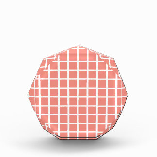 Geometric Coral Pink Square Pattern Award