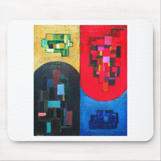 Geometric Counterpoint (geometric expressionism) Mouse Pad