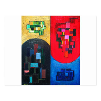 Geometric Counterpoint (geometric expressionism) Postcard