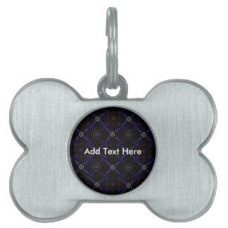 Geometric Crop Circles Pet ID Tag