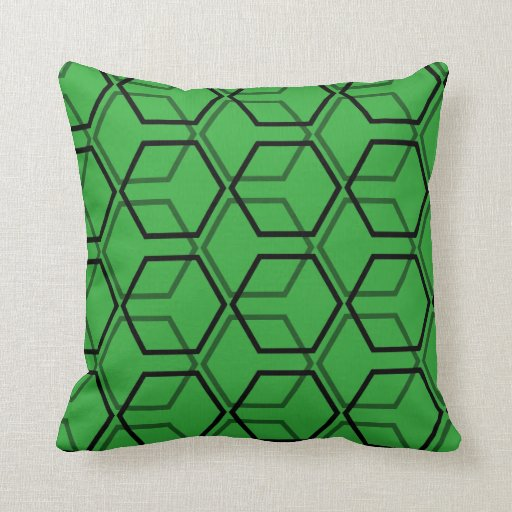 Throw Pillow Design Patterns : Geometric Cube Pattern Throw Pillow Zazzle