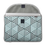 Geometric Cubes - Bold Blue Sleeves For MacBook Pro
