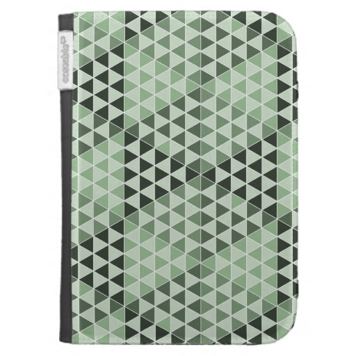 Geometric Cubes - Bold Green Kindle 3G Covers