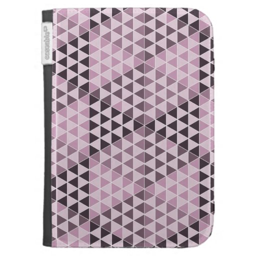 Geometric Cubes - Bold Pink Case For The Kindle