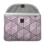 Geometric Cubes - Bold Pink Sleeves For MacBook Pro