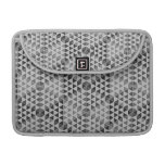 Geometric Cubes - Greyscale Sleeve For MacBook Pro