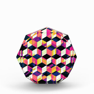 Geometric Cubes Pop Art Acrylic Award