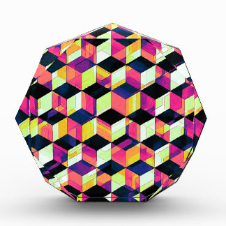 Geometric Cubes Pop Art Award