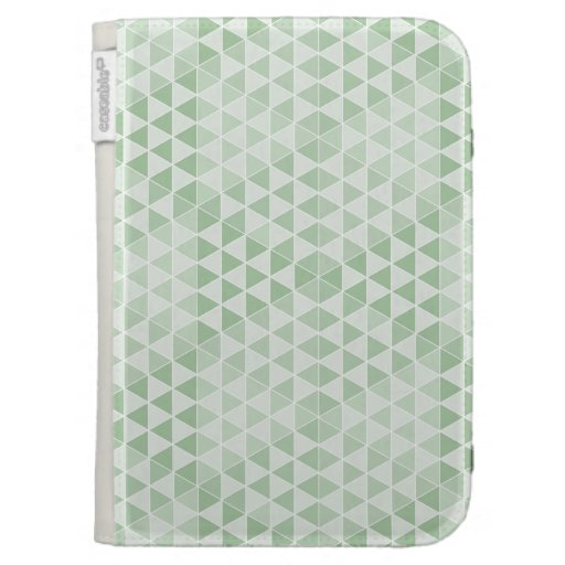 Geometric Cubes - Soft Green Kindle 3G Cases
