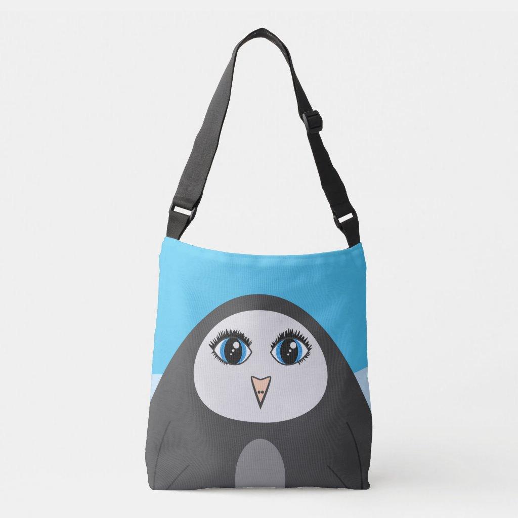 Geometric Cute Cartoon Big Eyed Penguin Kids