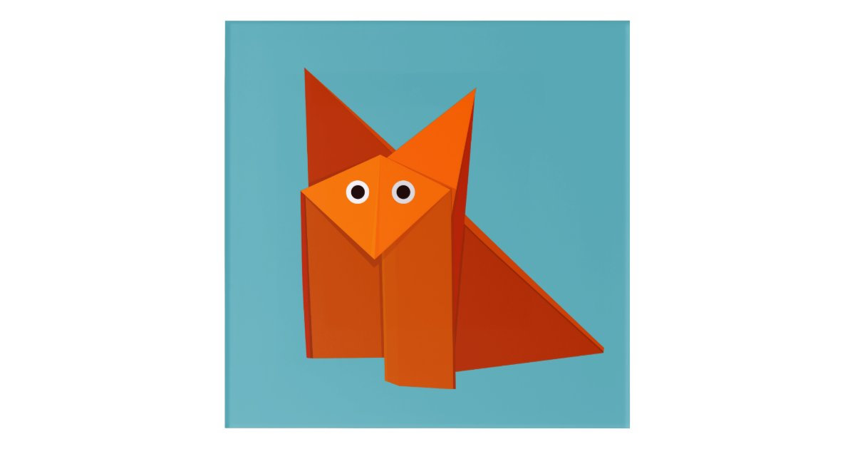Origami Fox 3D asset | CGTrader | 630x1200