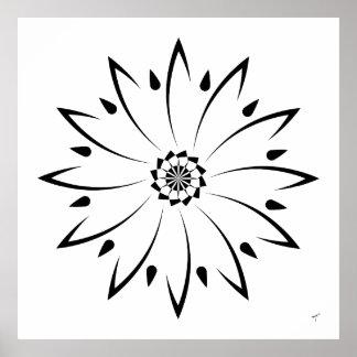 Geometric Daisy II, Poster