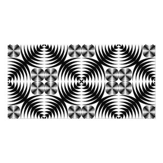 Geometric damask card