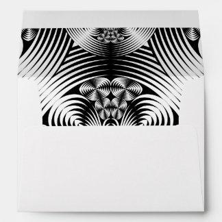 Geometric damask pattern envelope