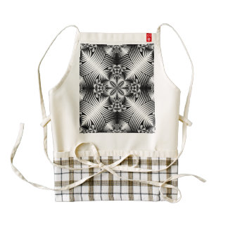 Geometric damask pattern zazzle HEART apron