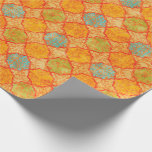 Geometric Damask Wrapping Paper