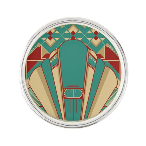 Geometric Deco Design Lapel Pin