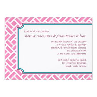 Geometric deco wedding invitation