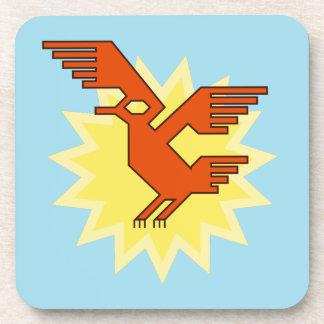 Geometric Decorative Andean Condor Bird Coaster