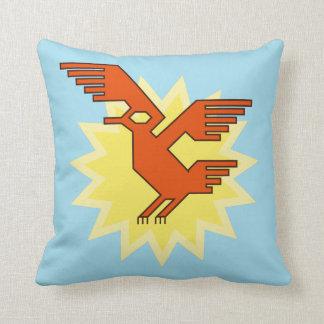Geometric Decorative Andean Condor Bird Throw Pillow