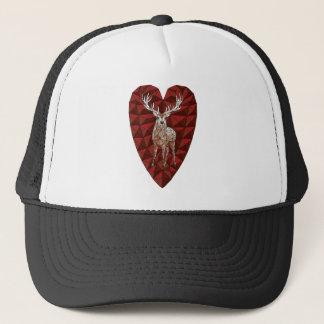 Geometric Deer Heart Trucker Hat