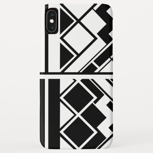 Geometric Design  Black and White iPhone XS Max Case