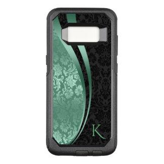 Geometric Design Black & Mint-Green Damasks OtterBox Commuter Samsung Galaxy S8 Case