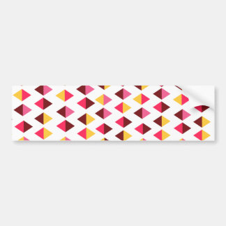 Geometric design bumper sticker