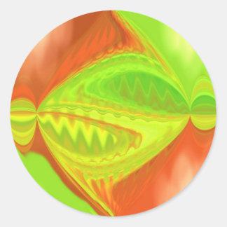Geometric Design Circles Classic Round Sticker