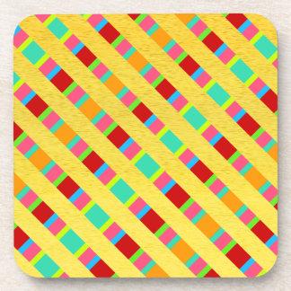 Geometric design decorative  plastic coasters