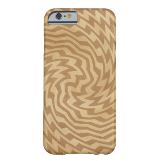 geometric design distressed look in sepia barely there iPhone 6 case