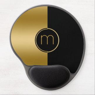 Geometric Design Gold & Black Stripe Gel Mouse Pad