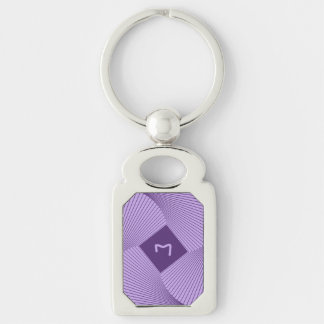 Geometric Design in Amethyst And Violet Keychains