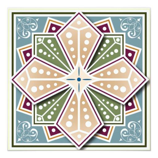 Geometric design invite