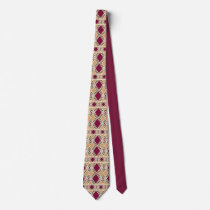Geometric design neck tie