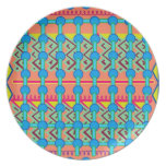 Geometric Design Party Plate