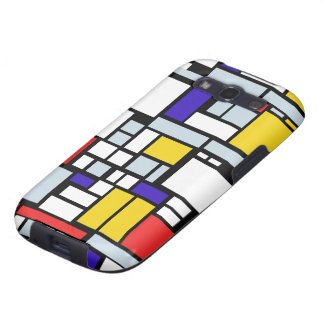 Geometric Design, Primary Colors Samsung Galaxy S3 Cover
