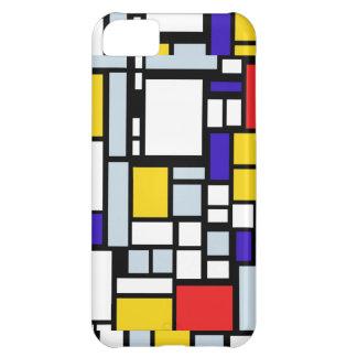 Geometric Design, Primary Colors iPhone 5C Covers